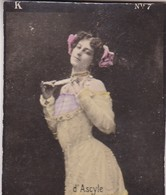 D'ASCYLE. COLORISE. CARD TARJETA COLECCIONABLE TABACO. CIRCA 1915 SIZE 4.5x5.5cm - BLEUP - Berühmtheiten