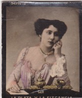 GETT. HABANILLOS LA PLATA. COLORISE. CARD TARJETA COLECCIONABLE TABACO. CIRCA 1915 SIZE 4.5x5.5cm - BLEUP - Berühmtheiten