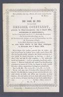 LIQUID. - 1€ !!!!!!! DOODSPRENTJE CONSTANDT LEERLING IN RHETORICA ° STUYVEKENSKERKE 1851 + DIXMUDE 1872 - Devotion Images