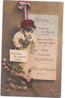 MILITARIA -  GUERRE 1914 -  SOUHAITS De L'Année 1916 - VICTOIRE - BES3/SAL1 - - War 1914-18