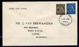 GB GUERNSEY - 1969 4d & 5d DEFINITIVE FDC FIRST DAY PREMIER JOUR WITH SG 10, 12 FINE USED - Guernsey