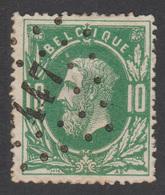COB N°30 - Belle Oblitération à Pts. - 447 - CHARLEROI (FAUBOURG) - PAS COURANT! - 1869-1883 Leopold II
