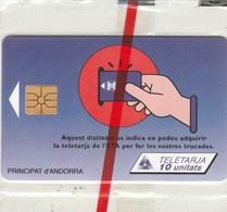 TELETARJA...PRINCIPAT D'ANDORRA...10 UNITATS...NEUVE SOUS BLISTER - Andorra