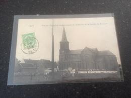 BR -1800 - LIGNE - Vue De L'Eglise Et Emplacement De La Perche De La Socièté St-Arnould - Ligné