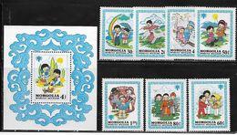 Mongolia 1980 Full MNH Set International Year Of The Child Scott 1147-1154 - Mongolia