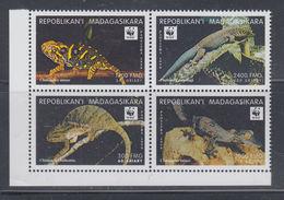 Malagasy 1999 MNH Set WWF Scott 1404 Block Of 4 - W.W.F.