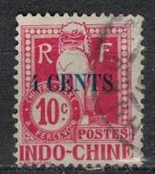 INDOCHINE          N°  YVERT  TAXE       21            OBLITERE       ( O   3/47 ) - Indochina (1889-1945)