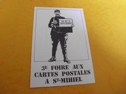 3E FOIRE AUX CARTES POSTALES SAINT-MIHIEL 1982 - Bolsas Y Salón Para Coleccionistas