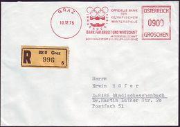 Austria - 1975 L - Winter Olympic Games 1976  - Letter - Hiver 1976: Innsbruck
