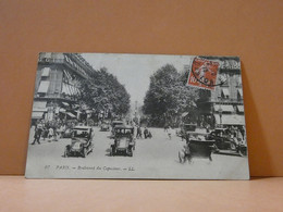 Paris - Boulevard Des Capucines - Fold Bottom Left Corner - Francia