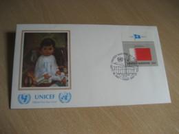 BAHRAIN New York 1987 Flag Series UNICEF Ebrahim Abu Said Painting USA United Nations - Bahreïn (1965-...)