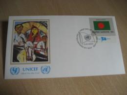 BANGLADESH New York 1980 Flag Series UNICEF Hassan The Happy Return Painting USA United Nations - Bangladesh