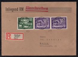 GLADBECK - ALLEMAGNE - III REICH / 1942 LETTRE  RECOMMANDEE  POUR METZ - EINSCHREIBEBRIEF (ref LE3382) - Germany