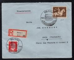 HANAU - ALLEMAGNE - III REICH / 1943 LETTRE  RECOMMANDEE  POUR METZ - EINSCHREIBEBRIEF (ref LE3383) - Germania