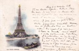 75 - PARIS 07 -  Tour Eiffel - 1898 - Carte Precurseur - Arrondissement: 07