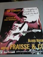 Affiche - Concert Hommage à Jimi Hendrix - Blues Rook Michel Fraisse & Co - Plakate & Poster