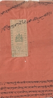 BIKANER  State  1A Foreign Bill Type 20 On Receipt  #  17953    D    Inde Indien  India Fiscaux Fiscal - Unclassified