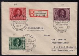 BERLIN CHARLOTTENBURG - ALLEMAGNE - III REICH / 1943 LETTRE  RECOMMANDEE  POUR METZ - EINSCHREIBEBRIEF (ref LE3391) - Lettres & Documents