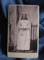 CDV Photo Louis Lecpon à Versailles - Première Communion ( Louise Hamon) 29 Mai 1902 L432B - Anciennes (Av. 1900)