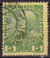 CRETE 1908-14 Austrian Office Stamps Of 1908 5 Centimes Green Vl. 17 - Kreta