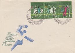 Enveloppe  FDC  1er  Jour  ALLEMAGNE  DDR     8éme  Championnat  Du  Monde  De  Handball    1974 - Pallamano