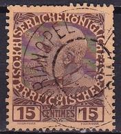 CRETE 1908-14 Austrian Office Stamps Of 1908 15 Centimes Brown Vl. 19 - Kreta