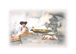 Cochons Avec Pirate - Tirage Limité à 12 Ex - Cochons