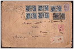 Bloc De 4  Du N°274 + 1 + Paire N°270 + 233 Et 199 Sur Lettre Rec.de PARIS Pour CORDOBA (ARGENTINE ) Du 23.5.31. - Frankreich
