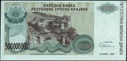 CROATIA - 500.000.000 Dinara 1993 {Knin} UNC P. R26 - Croatia