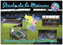 Stade De Football - Stade De La Meinau - Strasbourg - Carte Géo Du Bas-Rhin - Capitale De L'Europe - Cpm - Vierge - - Soccer