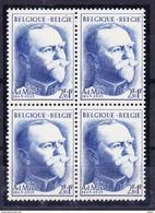 België 1957 Nr 1037 **, Kleine Verzameling In Blok Van 4, Zeer Mooi Lot Krt 3545 - Unused Stamps