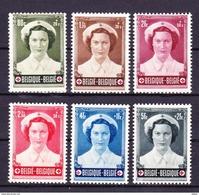 België 1953 Nr 912/17 *(licht Spoor Van Plakker), Zeer Mooi Lot Krt 3555 - Belgio