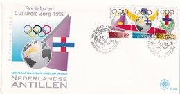 Dutch Antilles 1992, FDC Olympic Games. Cv 4,50 Euro - Niederländische Antillen, Curaçao, Aruba