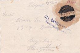 Censored German Feldpost WW1: Bay. Geb. MG Komp. No. 2 P/m 10.1.1918 - Letter Inside  (T19-22) - Militaria