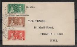Trinidad & Tobago 1937 FDC Coronation Set ,VF !! (RN-7) - Trinidad & Tobago (...-1961)