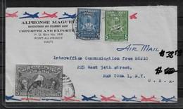 Haiti 1949 Air Mail Cover To USA ,VF !! (RN-7) - Haiti