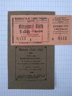 Abonnement Stalle Comédie Française Gand Gent Belgique 1922 Vignette Quitance - Tickets D'entrée