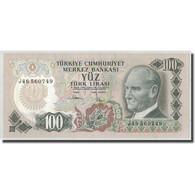 Billet, Turquie, 100 Lira, L.1970, 1970-01-14, KM:189a, SPL - Turquie