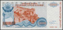 CROATIA - 5.000.000.000 Dinara {5 Billion} 1993 {Knin} UNC P. R27 - Croacia