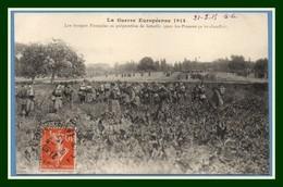 CPA Guerre 1914 Les Troupes Française En Préparation De Bataille (gare Les Pruscos ça Va Chauffer) Voy 1915 BE - Guerre 1914-18