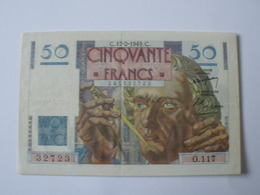 RARE BILLET DE 50F LE VERRIER NUMERO SERIE  RADAR 32723 - 1871-1952 Circulated During XXth