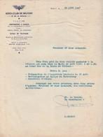 Courrier 1947 / Aéro-club Belfort / Aérodrome à Chaux 90 / Ecole Pilotage Et Mécaniciens D'Aviation / Rallye Porrentruy - France