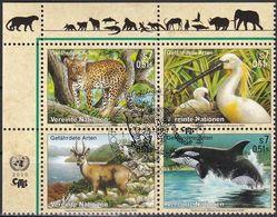 UNO WIEN 2000 Mi-Nr. 303/06 Gefährdete Arten O Used - Aus Abo - Wien - Internationales Zentrum
