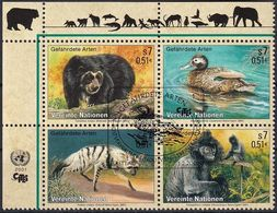 UNO WIEN 2001 Mi-Nr. 327/30 Gefährdete Arten O Used - Aus Abo - Wien - Internationales Zentrum