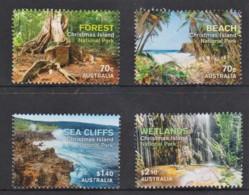 Christmas Island 2014 National Parks Set Of 4 Used - - Christmas Island