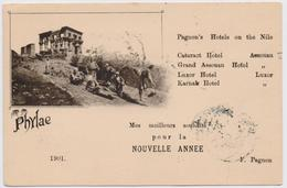 Egypt 1901, Postcard Phylae To Luzern (Switserland) - 1866-1914 Khedivate Of Egypt