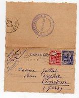 Bizerte (Tunisie) Carte Lettre Entier Postal  1941 (PPP17978) - Tunisie (1956-...)