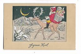 Illustration  Signée  L.P.R.    - - Santa Claus