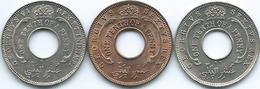 British West Africa - George VI - ⅒ Penny - 1946 (KM20); 1950 (KM26) & 1952 (KM25a) - Colonies