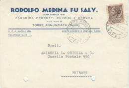 Cartolina Commerciale Medina 1959 Torre Annunziata - 1946-60: Marcofilie